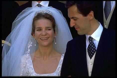 Elena Infantin von Spanien und Jaime de Marichalar am 18. März 1995