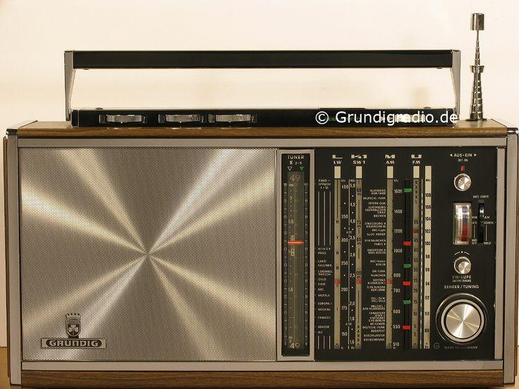 Grundig Satellit 208 Transistor 6000 Holz Chrom decor