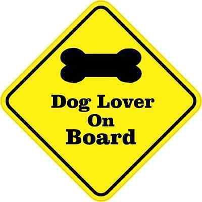 5x5 amantes de perros a Bordo Calcomanía Vinilo Calcomanía de Camión Pegatinas Calcomanías de animales
