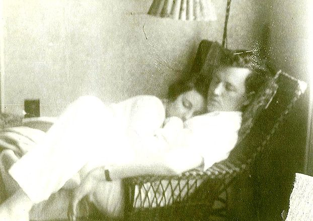 My paternal grandparents, John C. and Alice Lemann Weed of New Orleans, LA.  We believe this sweet moment was captured shortly before Pops was deployed with the Army Medical Corp as a combat surgeon during the North Africa and Italy campaigns with General Patton during WWII.  They were married in 1936 until Grandmother's death in 1989.—Sarah Cahill