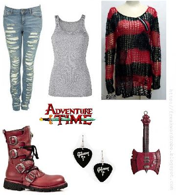 Marceline (Adventure Time) inspired outfit