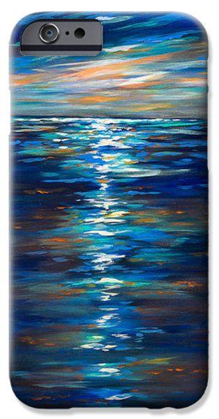 Dusk on the ocean iPhone Case by Linda Olsen