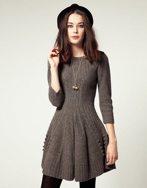 NW3 | NW3 by Hobbs Hills Knit Dress With Skater Skirt