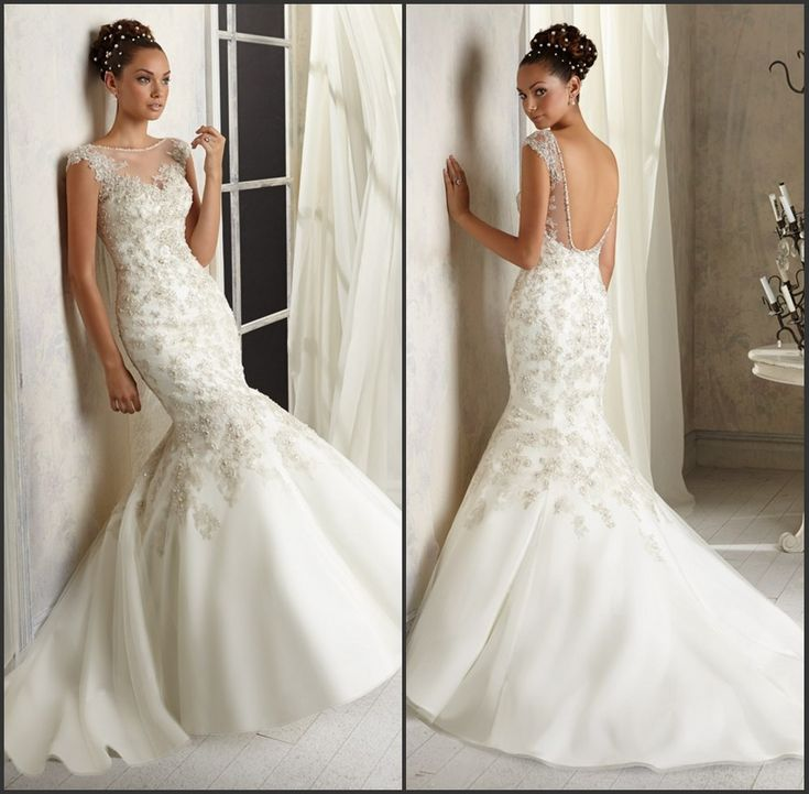 Mermaid patterns beading crystal new wedding dresses 2014 for Wedding dresses under 300