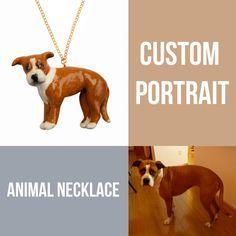 CUSTOM ANIMAL PORTRAIT , personalized animal necklace, 3D custom dog necklace, custom cat portrait necklace