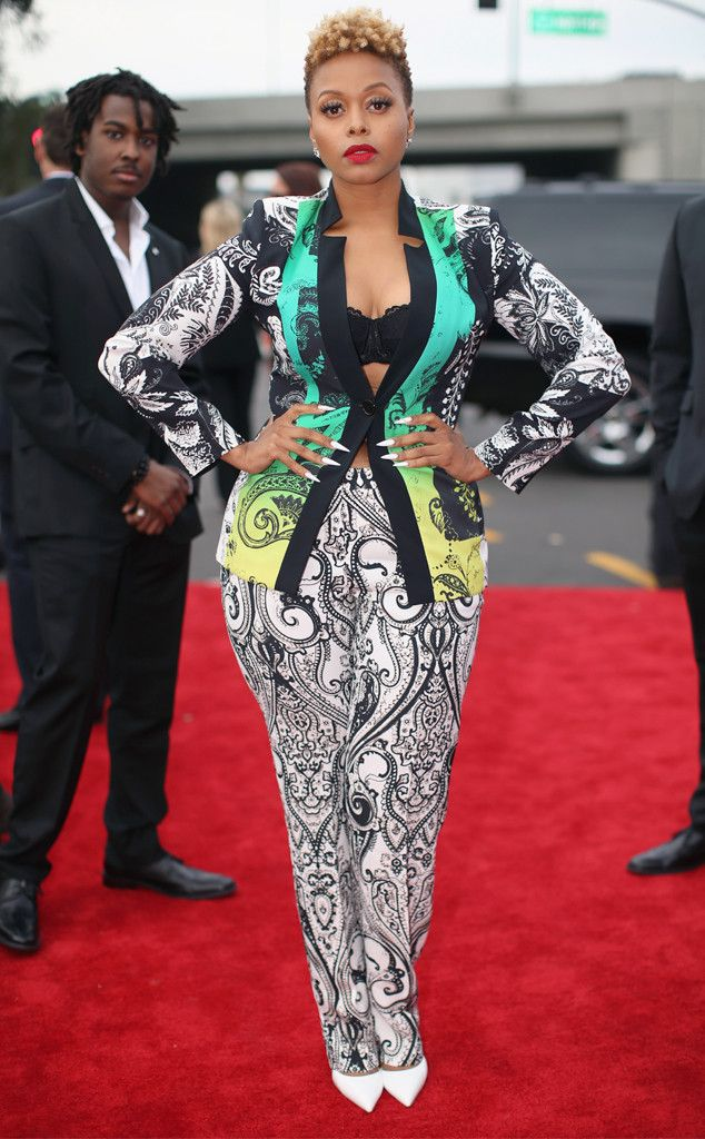 Chrisette Michele from 2014 Grammys: Red Carpet Arrivals | E! Online