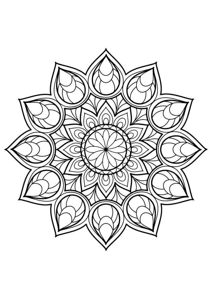 Magnificent Mandala from Free Coloring book for adults ... | free printable mandala colouring pages for adults