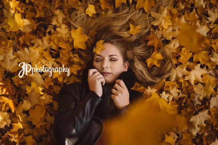 autumn leaves portrait