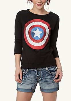 Captain America Raglan Top | Graphic Tees & Tanks | rue21