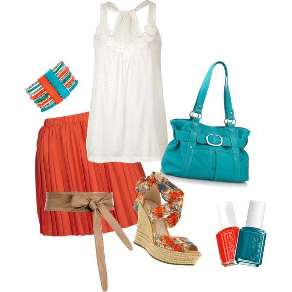 Turquoise & Tangerine, yes please! My new favorite color easily adaptable for any season :-)