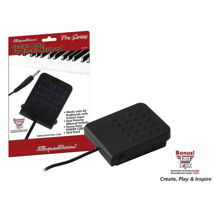 Spectra Sustain Pedal for Electric Keyboard - Black (Ail SP)