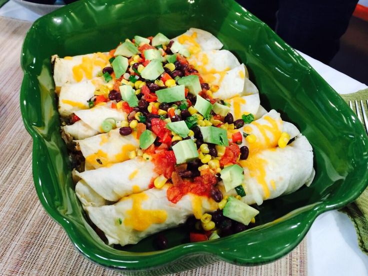 Chicken Enchiladas with Black Bean, Avocado and Corn Salsa - Food Styling for Mario Lopez and Avocados from Mexico on NBC Live and Bethenny Shows! | The Artful Gourmet