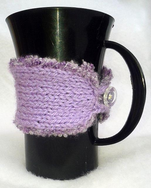 Ravelry: NanniClover's Lavender Mug Cosy (née Bookmark)