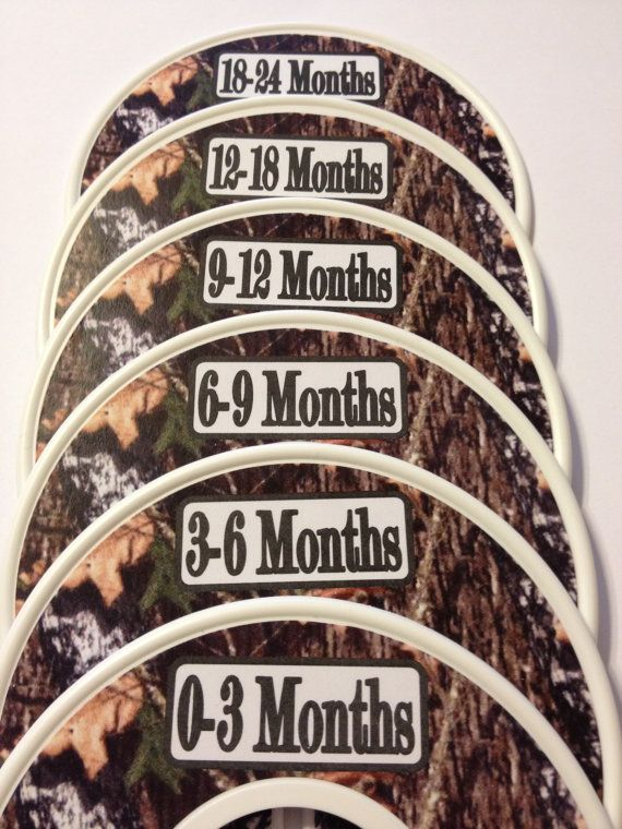 Mossy Oak Camo Baby Closet Dividers - Perfect Baby Shower Gift!