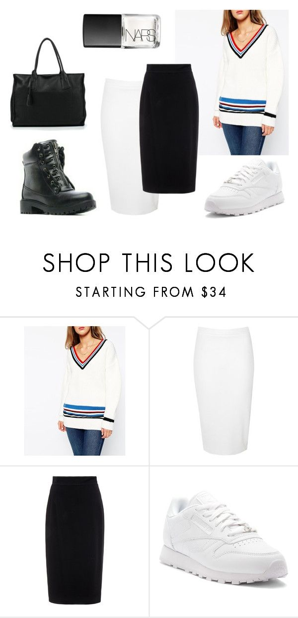 """""""576"""" by alena-mendesh on Polyvore featuring мода, ASOS, Glamorous, Raoul, Reebok и NARS Cosmetics"""