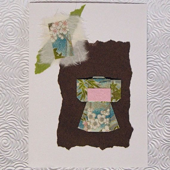Kimono Card Origami and by OrijujuShop on Etsy