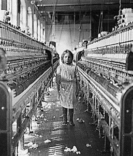 Photo Child Labour In Textile Factory 19th Century