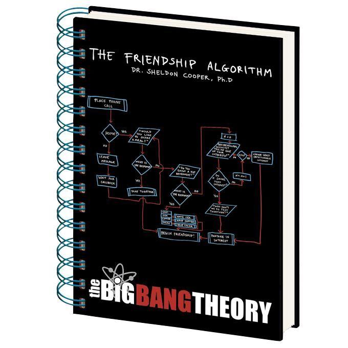 Friendship Algorithm - Muistikirja - The Big Bang Theory - Tuotenumero: 260198 - alkaen 4,99 € - EMP.fi