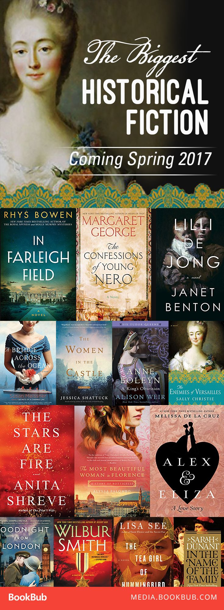 17 historical fiction books worth reading this spring. These novels will transport you from WWII to Tudor England to Imperial Rome.