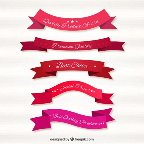 Quality-ribbons-in-red-tones
