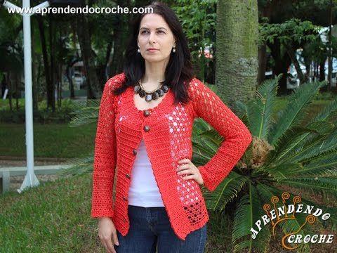 Casaco de Crochê Rubi - Aprendendo Crochê