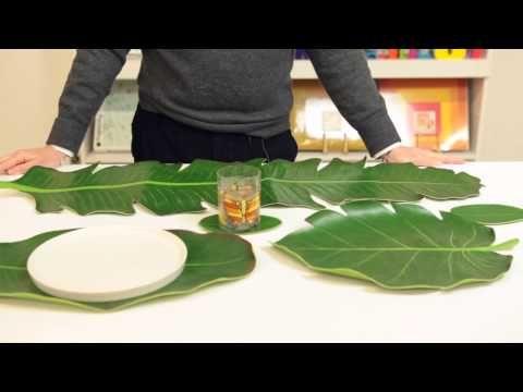 BaliHai Heliconia Leaf Coasters Set by Design Ideas - zillymonkey