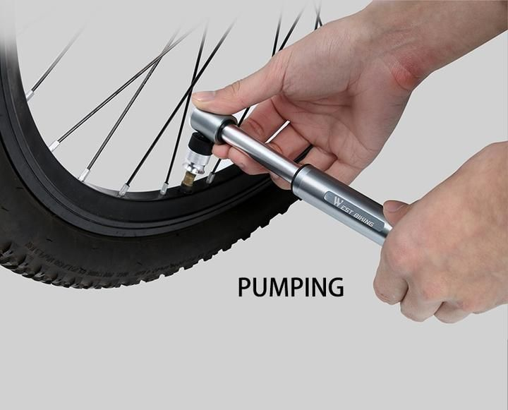 Mini Bicycle Tire Pump For Road Or Mountain Bikes