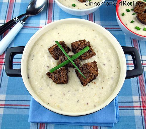 Cheddar Cheese Beer Soup with Pumpernickel Croutons | Cinnamon Spice ...