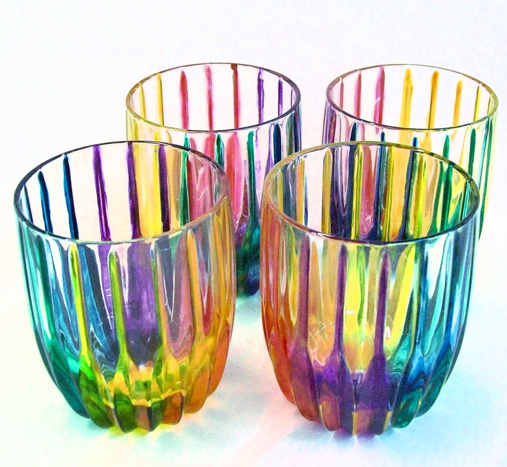 gay pride rainbow crystal tumbler drinking glasses hand