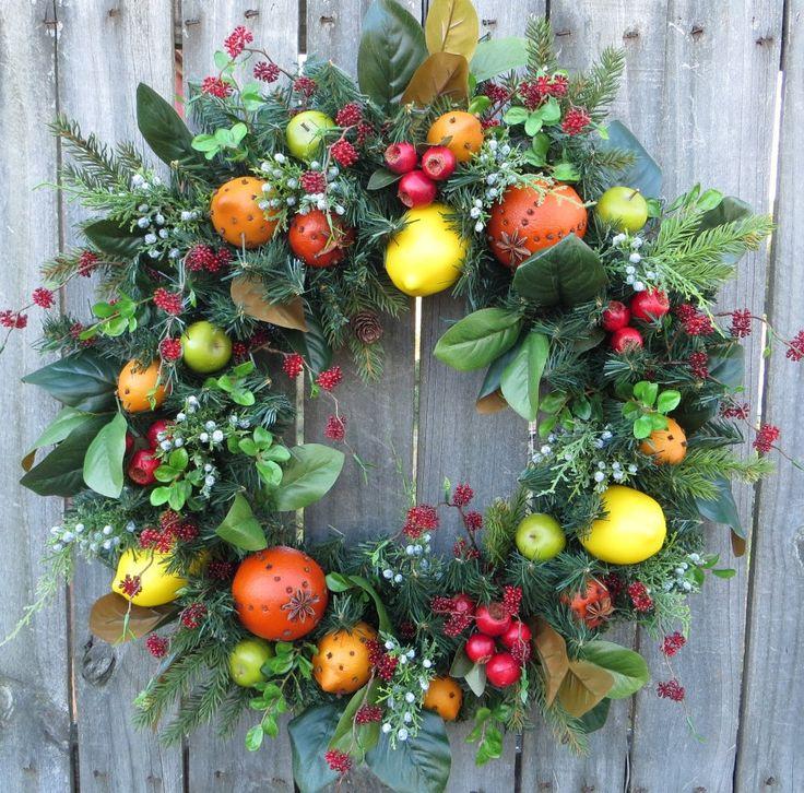 Christmas Wreath Williamsburg Style Christmas por HornsHandmade
