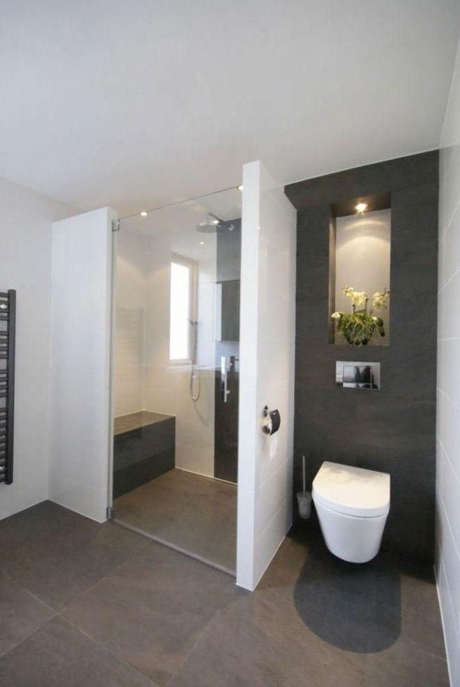 Idée décoration Salle de bain jolie salle de bain blanc gris plafond ...