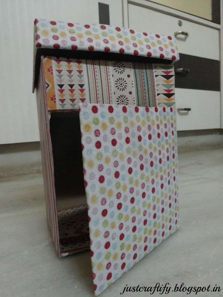 Just Craftify.!!: DIY Daily Accessories storage box. For procedure, visit http://www.justcraftify.blogspot.in/2016/02/diy-daily-accessories-storage-box.html #diy #crafts #upcycle #organize