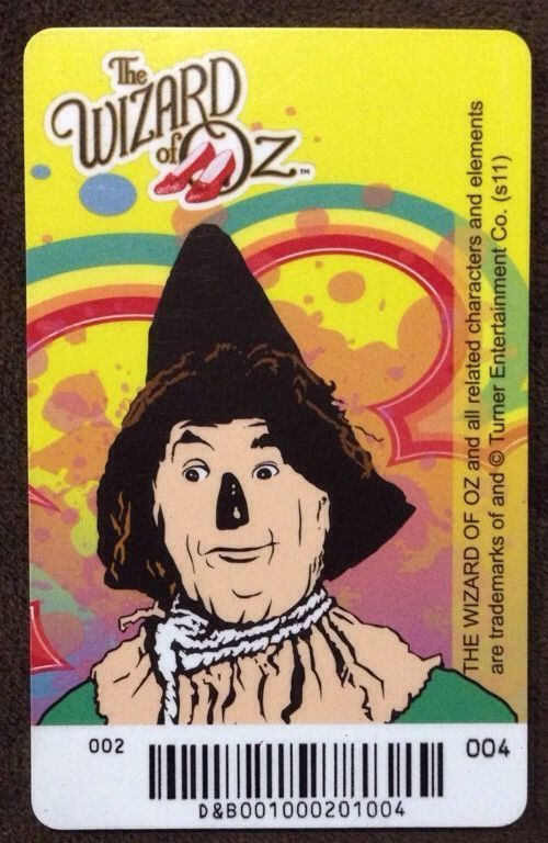 Scarecrow Elaut Card Wizard of Oz Arcade Coin Pusher Game Dave & Busters