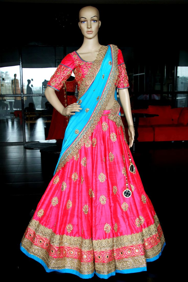 Shop Coral Pink Lehenga at Varuna Jithesh to look beautiful at your special occasion. We guarantee the best wedding shopping experience every time.