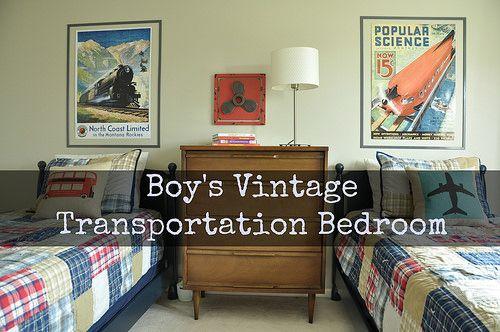 Boy S Vintage Transportation Bedroom Includes Diy