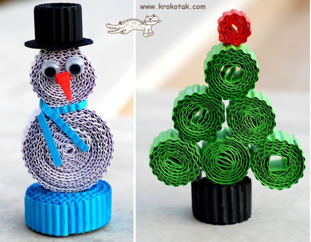 Christmas Crafts::Things to make with corrugated paper sheets?