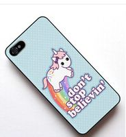 Cute Unicorn cover case for Samsung Galaxy s2 s3 s4 s5 mini s6 edge Note 2 3 4 iPhone 4s 5s 5c 6 Plus iPod touch 4 5