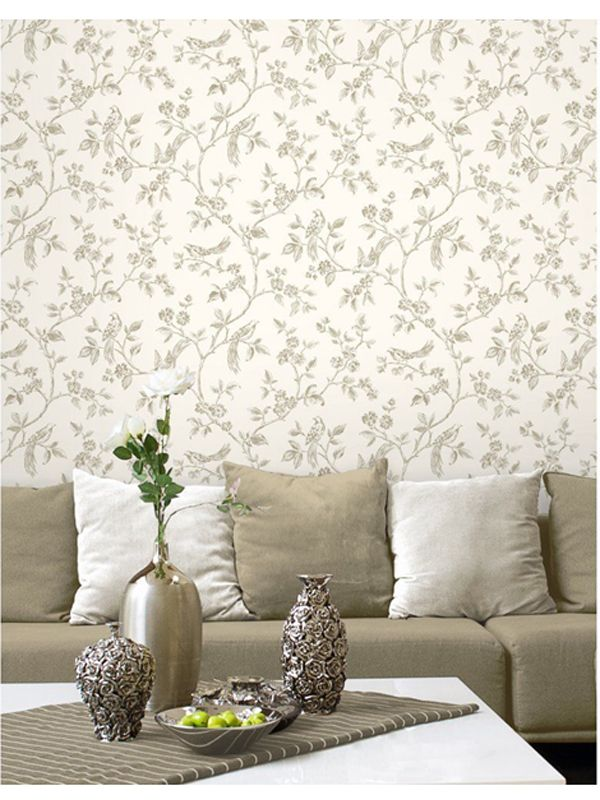 Cream and Gold Birds Wallpaper by Fine Decor. More wallpaper designs available here at Play Rooms...