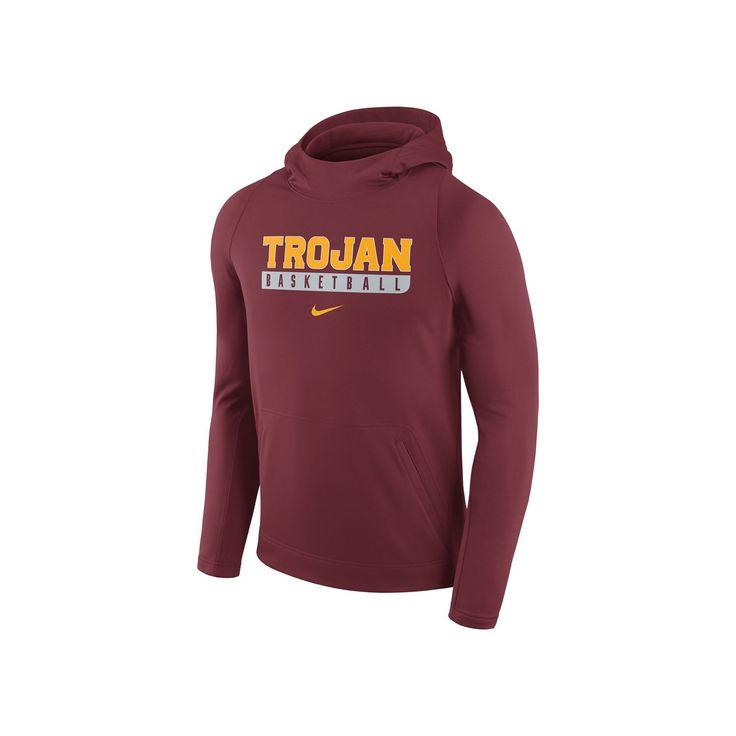 Men's Nike USC Trojans Basketball Fleece Hoodie, Size: Medium, Red Other
