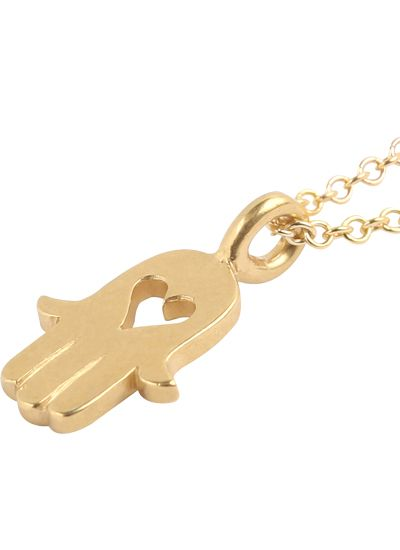 Dogeared Heart Hamsa Gold Dipped Necklace