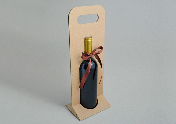 Cardboard Bottle Carrier On Behance Bolsas Para Vino Cajas Para Tazas Embalaje Botella