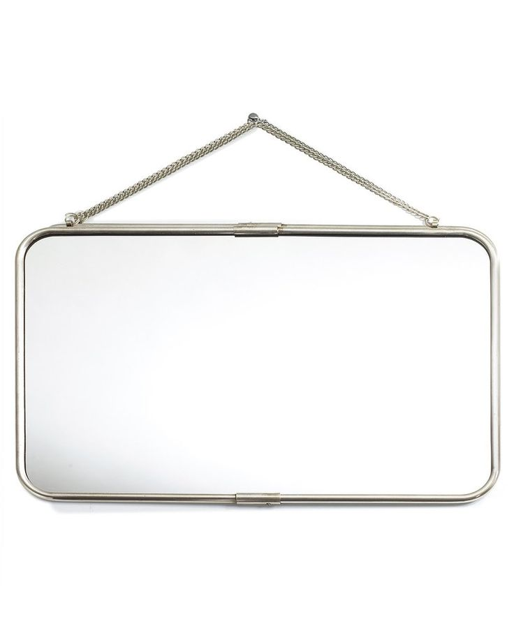 mirrordeco.com — Hanging Mirror with Chain - Landscape Frame W:57cm