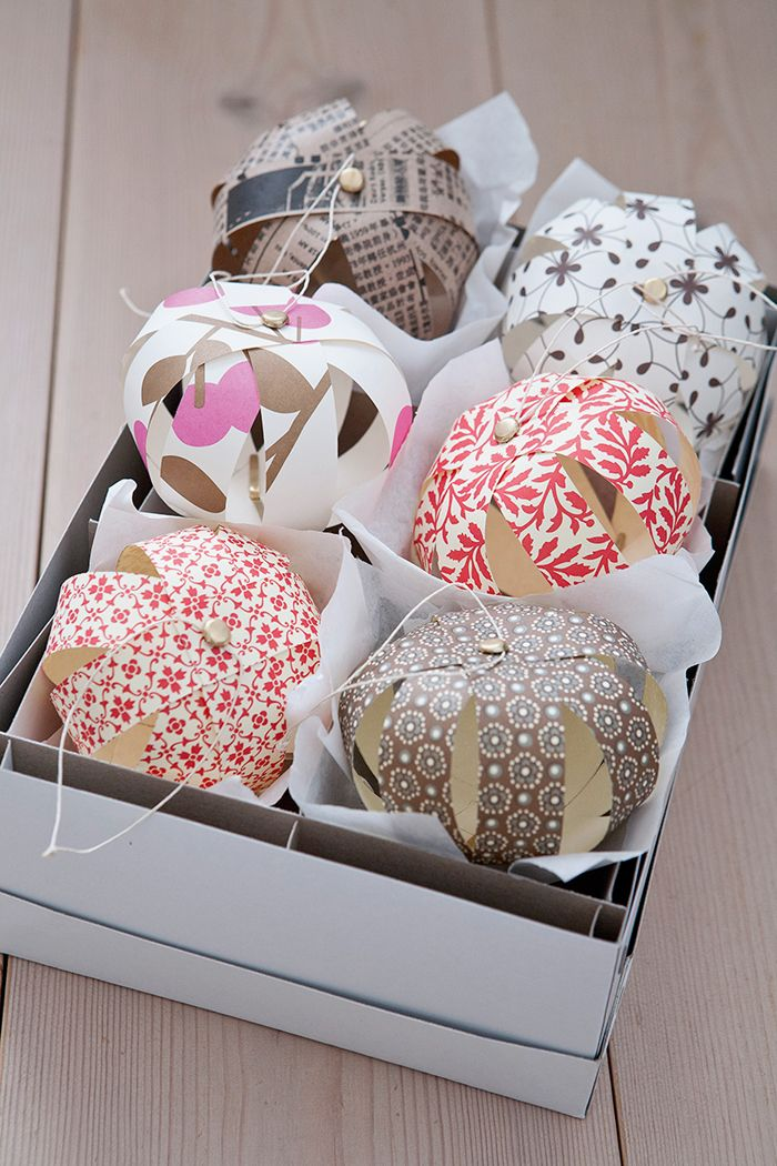 DIY: paper baubles #Christmas