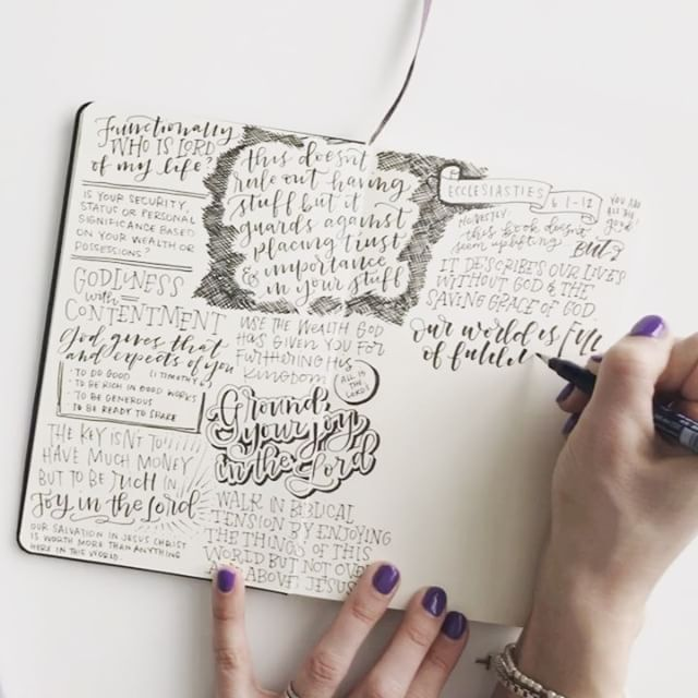 We didn't make it to church today because of the snow so I did my church journaling from the podcast! Part 1