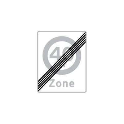 Ophør af zone med lokal hastighedsbegrænsning E 69,4