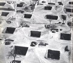 bernard rudofsky:  architecture without architects . Underground city near Tungkwan (China)