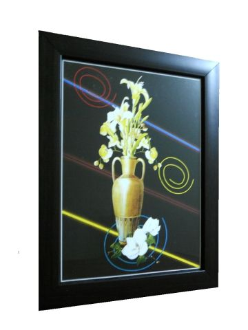This Beautiful Modern Art Painting Which Symbolizes A Vase With Flowers Is  A New Addition To