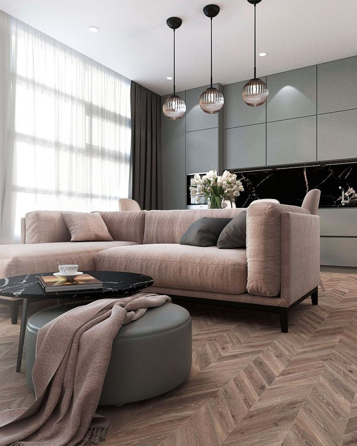 Living room. Kitchen. Flat