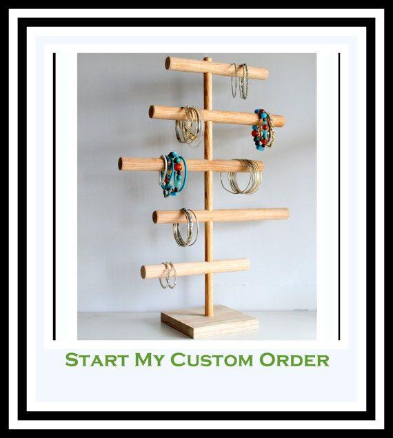 Custom Order Five Tier Bracelet Holder by TheWoodshopsDaughter