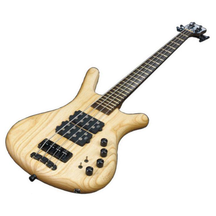 Warwick Corvette $$ 4-String Bass Guitar, Natural Oil Finish at Gear4music.com
